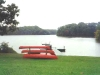 Red Canoes 3, on Noxontown Pond, St, Andrews School, Middletown, Del.