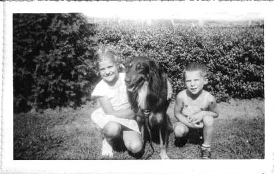 Carol, 9, Butch, 7, & Bobby, 5 - 1950