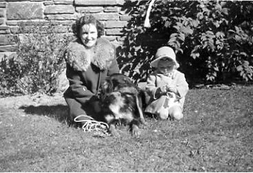 Me, Aunt Marguerite & Butch, about 1944