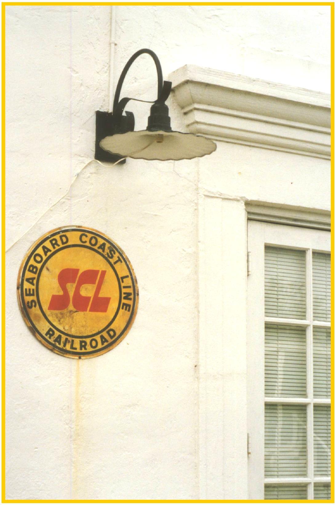 Historic Naples Depot Logo and Lamp, Naples, Fla.