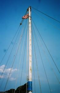 Maggie's 50-foot mast