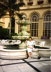Roberta at the Ritz Fountain