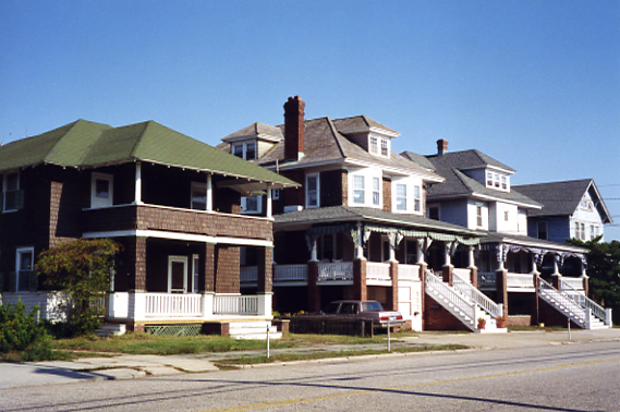 Row of Victorian Homes, Ocean City, 1990s
