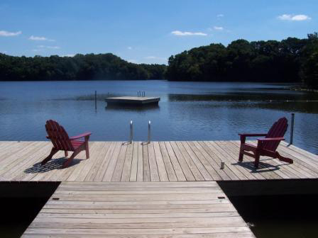 T-Dock on Noxontown Pond. St. Andrew's School photo.