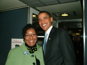 Quincy Lucas with President Barack Obama