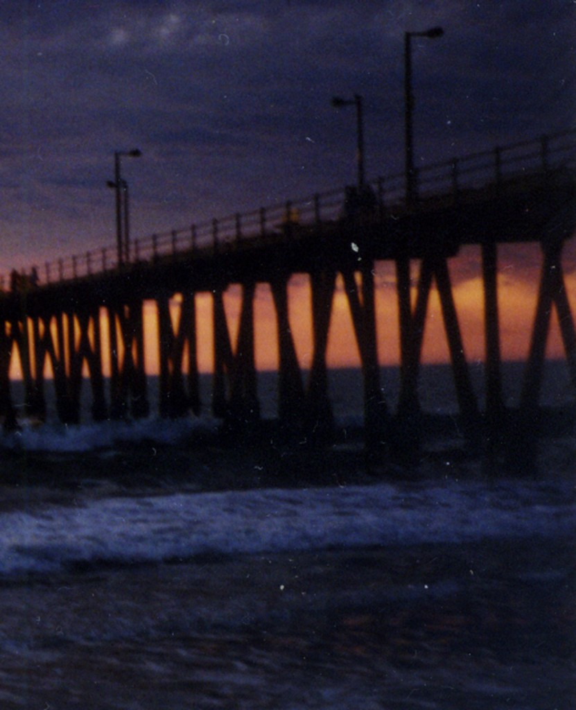 HB Pier III V Piers at Sunset
